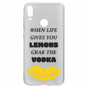 Etui na Huawei Y7 2019 When life gives you a lemons grab the vodka
