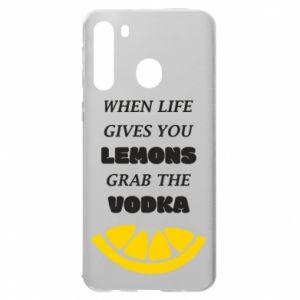Etui na Samsung A21 When life gives you a lemons grab the vodka