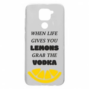 Etui na Xiaomi Redmi Note 9/Redmi 10X When life gives you a lemons grab the vodka