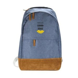 Urban backpack When life gives you a lemons grab the vodka