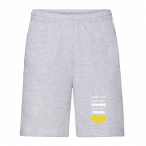 Men's shorts When life gives you a lemons grab the vodka