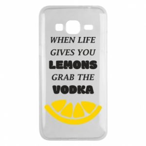 Phone case for Samsung J3 2016 When life gives you a lemons grab the vodka