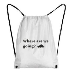 Plecak-worek Where are we going