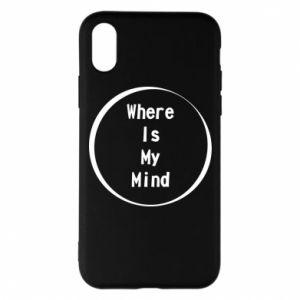 Etui na iPhone X/Xs Where is my mind
