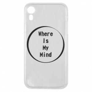 Etui na iPhone XR Where is my mind