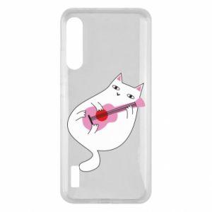 Etui na Xiaomi Mi A3 White cat playing guitar