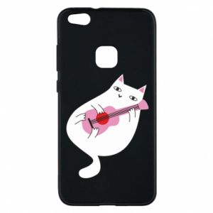 Etui na Huawei P10 Lite White cat playing guitar