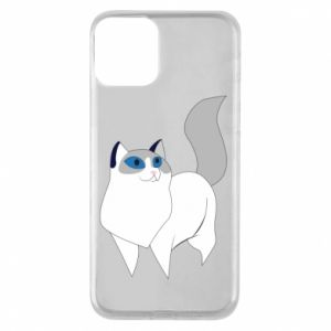 Etui na iPhone 11 White cat with blue eyes
