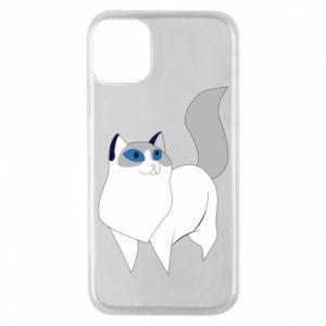 Etui na iPhone 11 Pro White cat with blue eyes