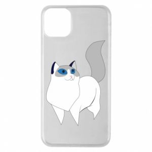 Etui na iPhone 11 Pro Max White cat with blue eyes