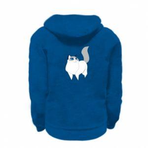 Bluza na zamek dziecięca White cat with blue eyes