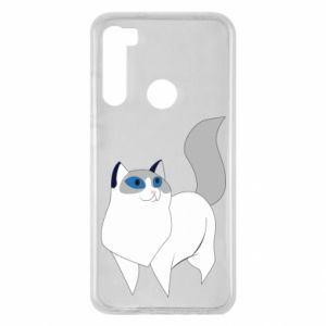 Etui na Xiaomi Redmi Note 8 White cat with blue eyes