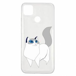Etui na Xiaomi Redmi 9c White cat with blue eyes