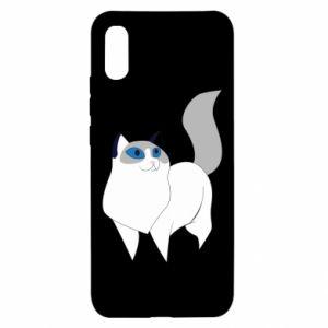 Etui na Xiaomi Redmi 9a White cat with blue eyes
