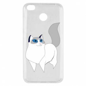 Etui na Xiaomi Redmi 4X White cat with blue eyes