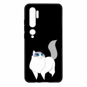 Etui na Xiaomi Mi Note 10 White cat with blue eyes