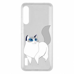 Etui na Xiaomi Mi A3 White cat with blue eyes