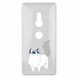 Etui na Sony Xperia XZ2 White cat with blue eyes