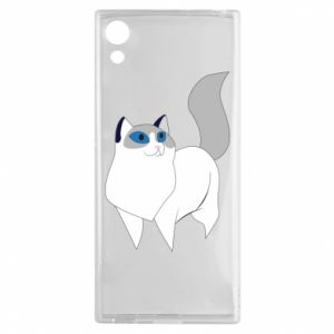 Etui na Sony Xperia XA1 White cat with blue eyes