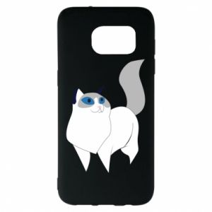 Etui na Samsung S7 EDGE White cat with blue eyes