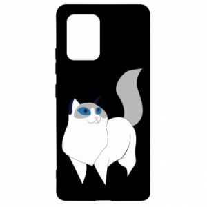 Etui na Samsung S10 Lite White cat with blue eyes