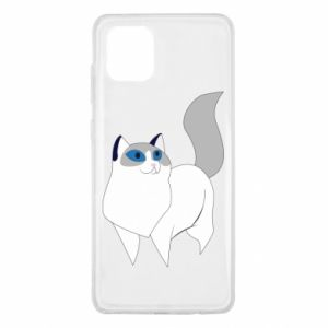 Etui na Samsung Note 10 Lite White cat with blue eyes
