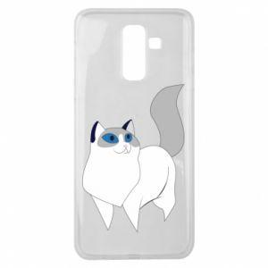 Etui na Samsung J8 2018 White cat with blue eyes