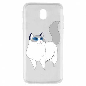Etui na Samsung J7 2017 White cat with blue eyes