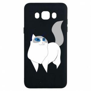 Etui na Samsung J7 2016 White cat with blue eyes