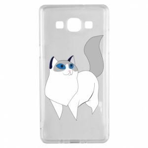 Etui na Samsung A5 2015 White cat with blue eyes