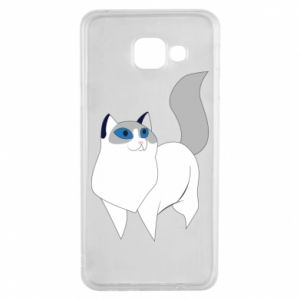 Etui na Samsung A3 2016 White cat with blue eyes