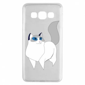 Etui na Samsung A3 2015 White cat with blue eyes