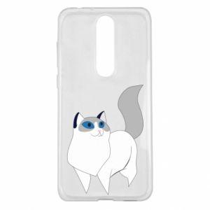 Etui na Nokia 5.1 Plus White cat with blue eyes