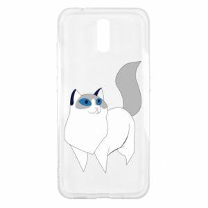 Etui na Nokia 2.3 White cat with blue eyes