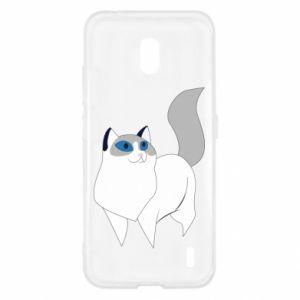 Etui na Nokia 2.2 White cat with blue eyes