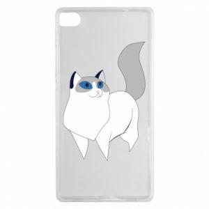 Etui na Huawei P8 White cat with blue eyes