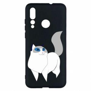 Etui na Huawei Nova 4 White cat with blue eyes