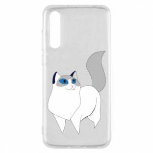 Etui na Huawei P20 Pro White cat with blue eyes