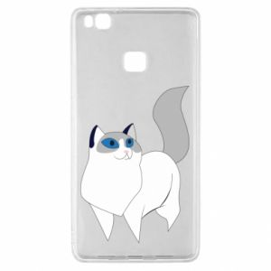 Etui na Huawei P9 Lite White cat with blue eyes
