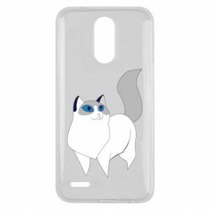 Etui na Lg K10 2017 White cat with blue eyes