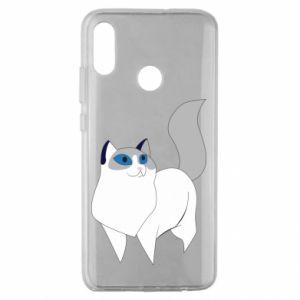 Etui na Huawei Honor 10 Lite White cat with blue eyes