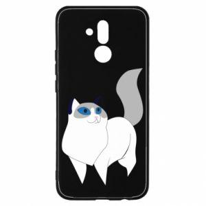 Etui na Huawei Mate 20 Lite White cat with blue eyes