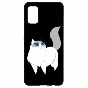 Etui na Samsung A41 White cat with blue eyes