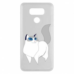 Etui na LG G6 White cat with blue eyes