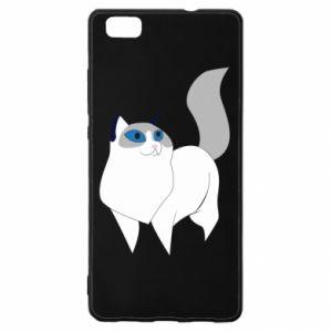 Etui na Huawei P 8 Lite White cat with blue eyes