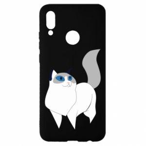 Etui na Huawei P Smart 2019 White cat with blue eyes