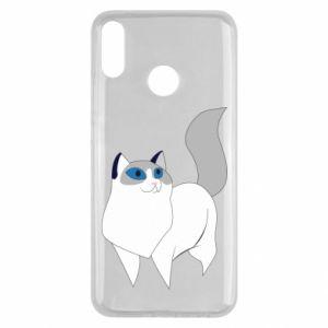 Etui na Huawei Y9 2019 White cat with blue eyes