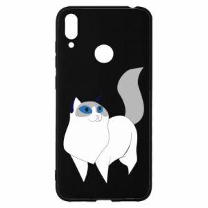 Etui na Huawei Y7 2019 White cat with blue eyes