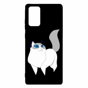 Etui na Samsung Note 20 White cat with blue eyes
