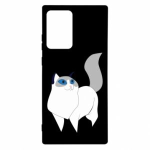 Etui na Samsung Note 20 Ultra White cat with blue eyes
